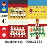 players team with flags set   Shutterstock .eps vector #408628558