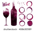 illustration of glass and... | Shutterstock .eps vector #408630589