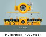 factory industrial machine... | Shutterstock .eps vector #408634669
