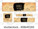 web banners for websites 4... | Shutterstock . vector #408640183