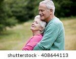 portrait of a senior couple... | Shutterstock . vector #408644113