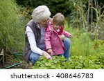 a grandmother and her... | Shutterstock . vector #408646783