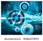 blue abstract hi speed internet ... | Shutterstock .eps vector #408647893