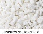White Sugar Cubes  Full Frame...