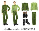 vector illustration of military ... | Shutterstock .eps vector #408650914