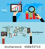 global social network abstract... | Shutterstock .eps vector #408653713