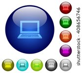 set of color laptop glass web...
