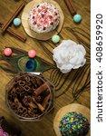 celebrating sweet cupcakes ... | Shutterstock . vector #408659920