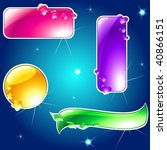 collection of glossy  brightly... | Shutterstock .eps vector #40866151
