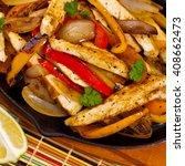 chicken fajitas. selective... | Shutterstock . vector #408662473