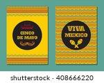 cinco de mayo  viva mexico ... | Shutterstock .eps vector #408666220