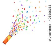 many falling tiny colorful and... | Shutterstock .eps vector #408666388