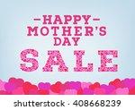 happy mother's day sale... | Shutterstock .eps vector #408668239
