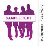 group of people | Shutterstock .eps vector #408674140