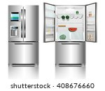 open and closed modern chrome... | Shutterstock .eps vector #408676660
