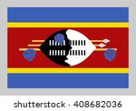 vector flag of swaziland | Shutterstock .eps vector #408682036