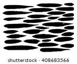 modern brush strokes. vector... | Shutterstock .eps vector #408683566