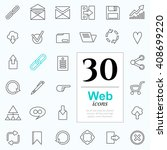 set of web icons for internet... | Shutterstock .eps vector #408699220