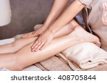 woman having sports foot... | Shutterstock . vector #408705844