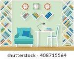 interior design office. room... | Shutterstock . vector #408715564