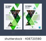 set of brochure template layout ... | Shutterstock .eps vector #408720580