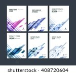 set of abstract cover design ... | Shutterstock .eps vector #408720604