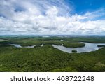 Stock photo aerial shot of amazon rainforest in brazil south america 408722248