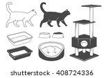 Stock vector cat set 408724336