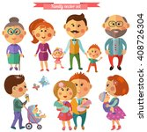 vector set in flat style with... | Shutterstock .eps vector #408726304