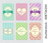 vector vintage greeting cards... | Shutterstock .eps vector #408736204