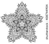 vector henna tatoo mandala.... | Shutterstock .eps vector #408744904