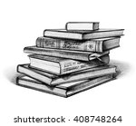 stack of books isolated on... | Shutterstock . vector #408748264