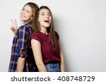 lifestyle and people concept ... | Shutterstock . vector #408748729