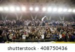 Blurred Background Of Crowd Of...
