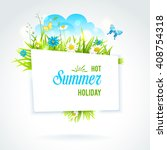 abstract summer isolated banner....   Shutterstock .eps vector #408754318