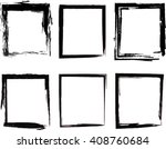 grunge square black and white.... | Shutterstock .eps vector #408760684