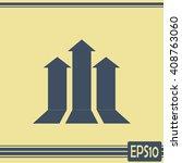 up arrow icon. | Shutterstock .eps vector #408763060
