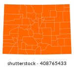 map of colorado | Shutterstock .eps vector #408765433