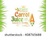 carrot juice with vitamin a... | Shutterstock .eps vector #408765688