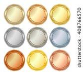 vector round blank templates... | Shutterstock .eps vector #408766570