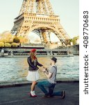 french stereotypical couple... | Shutterstock . vector #408770683