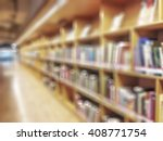 blur school library with book... | Shutterstock . vector #408771754