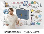 briefcase icon business... | Shutterstock . vector #408772396