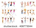 isolated  success concept  | Shutterstock . vector #408773044