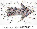 3d rendering of arrow people | Shutterstock . vector #408773818