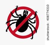 encephalitic tick crossed sign... | Shutterstock .eps vector #408774310