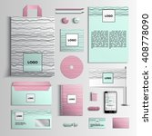 corporate identity template in... | Shutterstock .eps vector #408778090