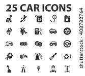 car  repair 25 black simple... | Shutterstock . vector #408782764