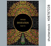 wedding invitation or card with ... | Shutterstock .eps vector #408787228