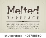 melted letters and numbers | Shutterstock .eps vector #408788560